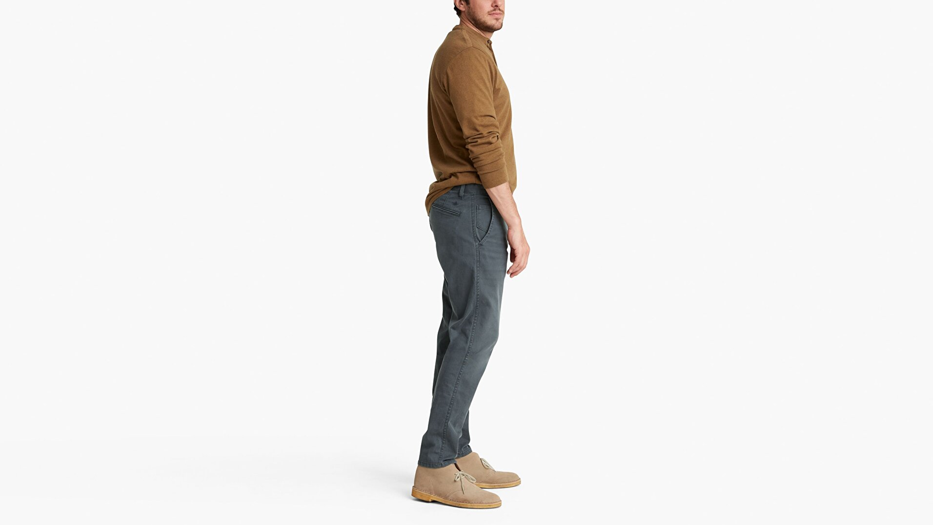 Waterless® Sustainable Alpha Khaki, Tapered Pantolon
