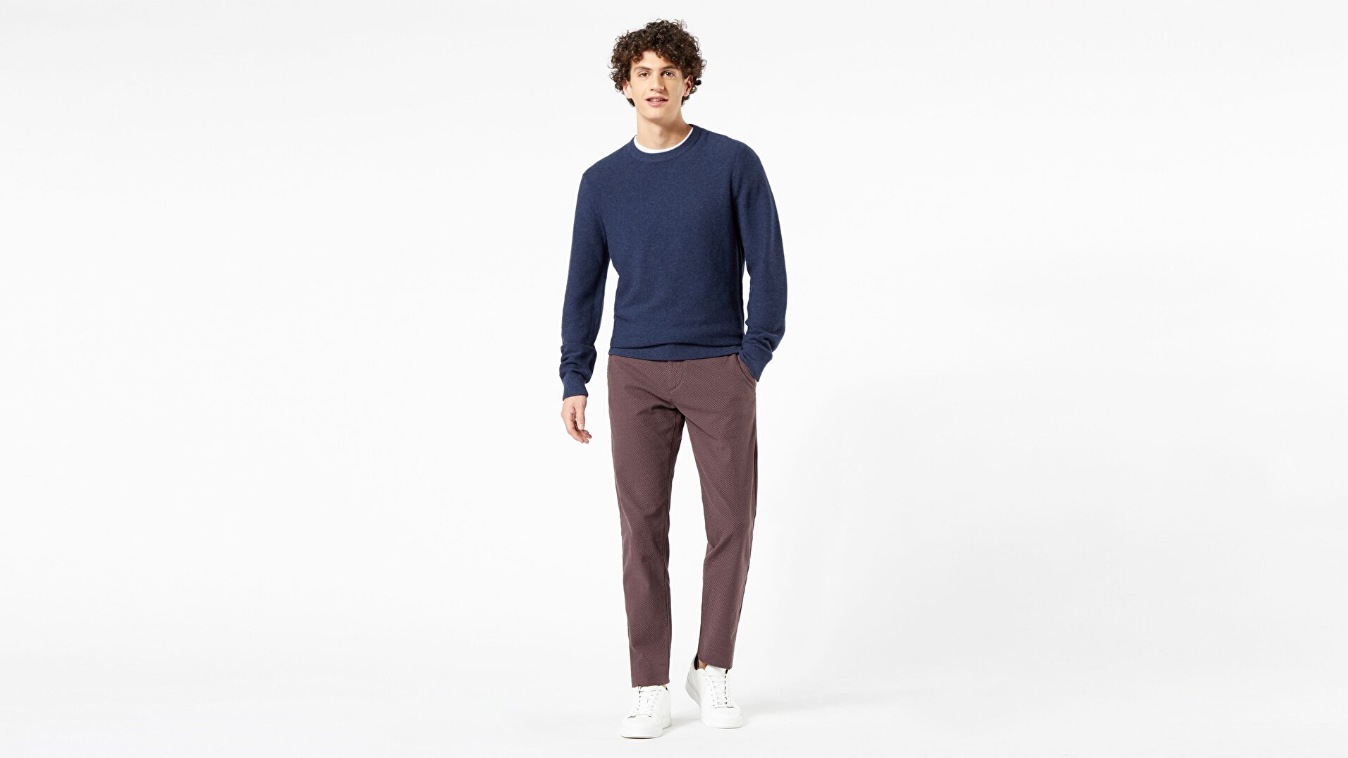 Chino Tapered Fit - Dobby Pantolon
