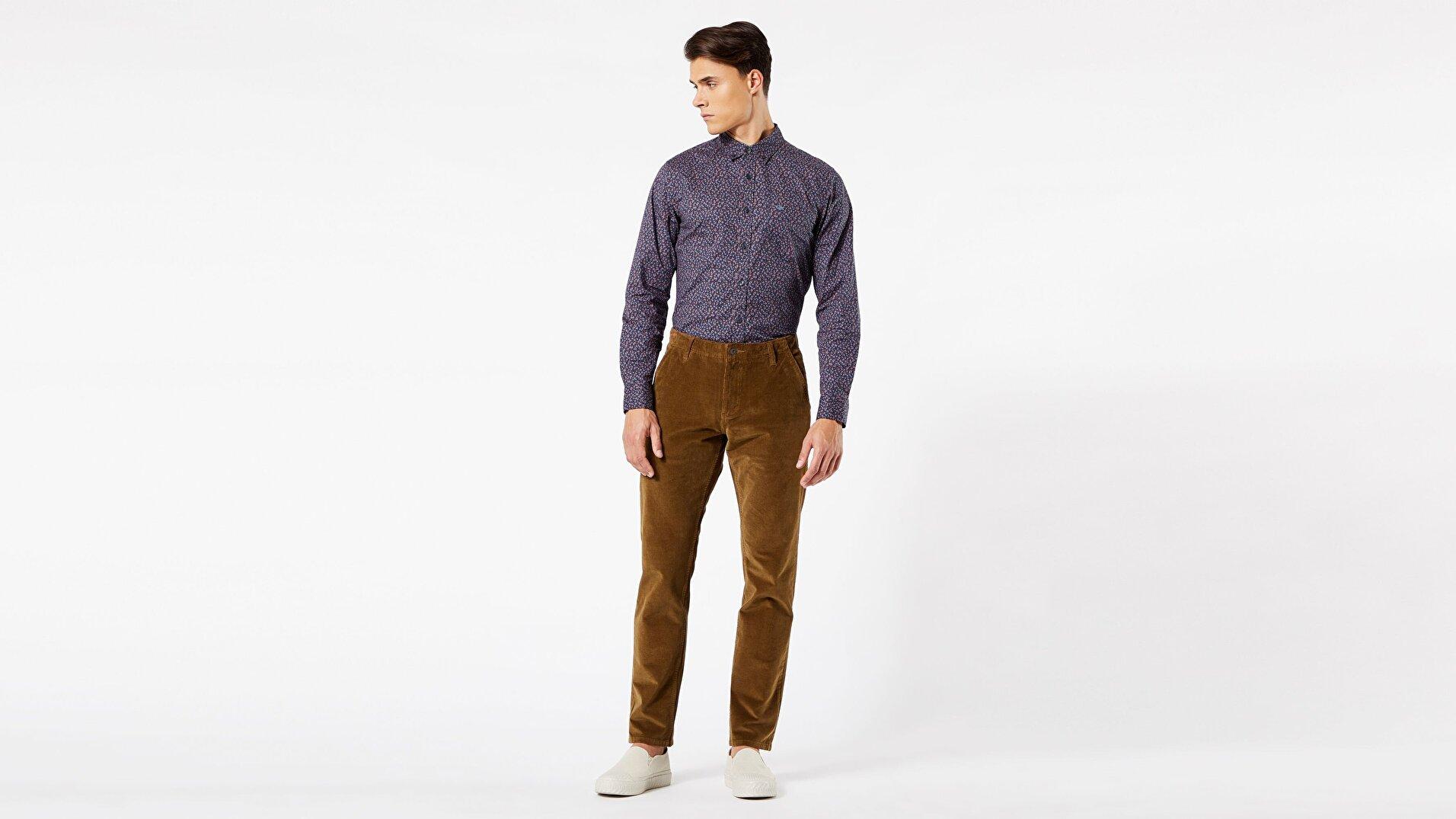 Khaki Slim Pantolon
