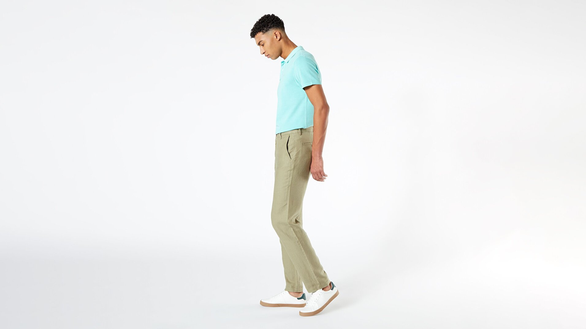 Linen Chino, Straight Fit